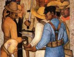 """Foto:  Diego Rivera, """"La muerte del capitalista"""""""